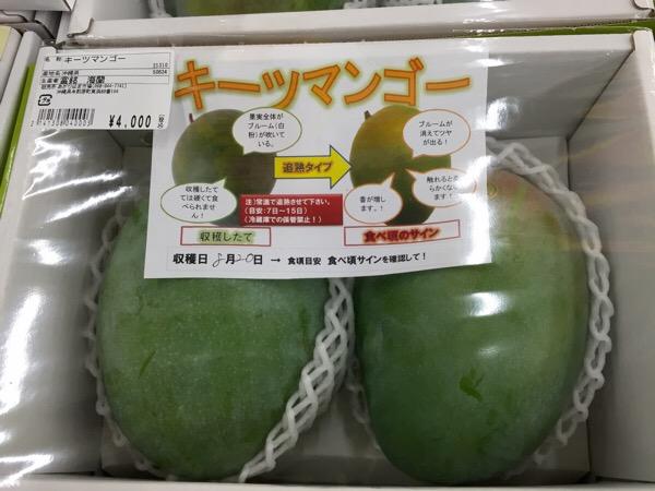 8月9月の沖縄土産はキーツマンゴーが最高にうまい。