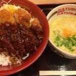 国際通りの「かつさと」で味噌カツ丼ランチ