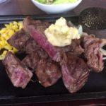 「那覇ステーキ」で1000円で熟成肉ステーキ200グラム食べた。