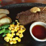 那覇市前島、とまりん近くの「おきなわステーキ」で1000円ステーキ食べた。