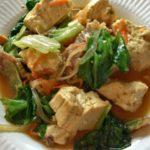 那覇市松尾「ゆくい処あんま〜の味」でランチに豆腐チャンプルー食べた。