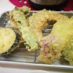 那覇市壺屋の「天ぷら食堂 桜囲」で天ぷら定食食べた