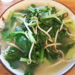 浦添市仲間のてだこそばで野菜そば食べた。