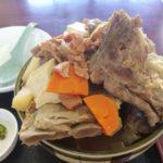 宜野湾市役所の裏のお食事処 大京でランチに骨汁