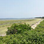 照間海岸で砂茶碗